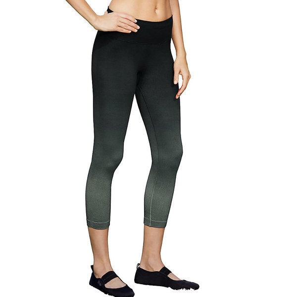 Champion Women's Vapor Black Seamless Dip-dye Capris