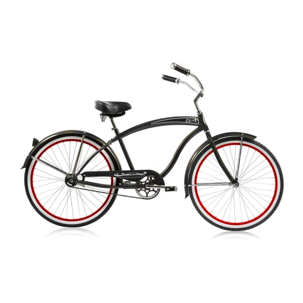 Micargi 26-inch Matte Black Rover Single Speed Cruiser 19424978