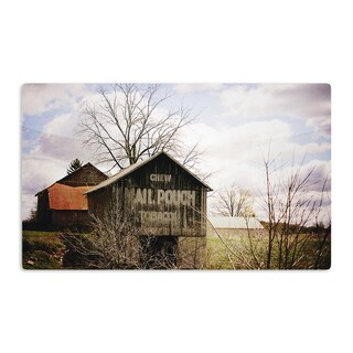 KESS InHouse Angie Turner 'Mail Pouch Barn' Wooden House Artistic Aluminum Magnet
