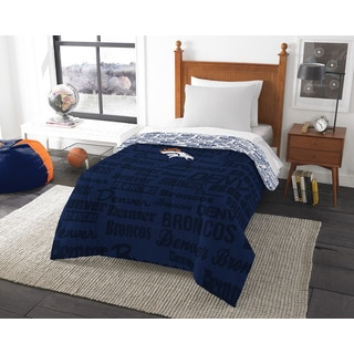 The Northwest Company Official NFL 876 Broncos Anthem Twin Comforter