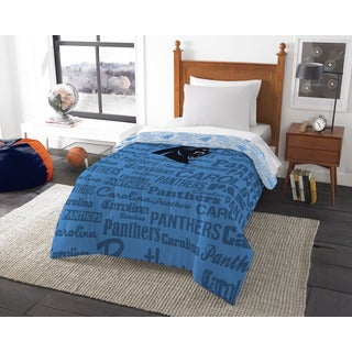 The Northwest Company Official NFL 876 Panthers Anthem Twin Comforter
