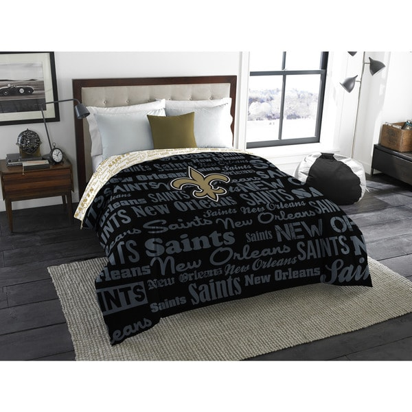 The Northwest Company Official NFL 877 Saints Anthem Full Comforter