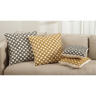 Seren Collection Beaded Design Down Filled Cotton Throw Pillow