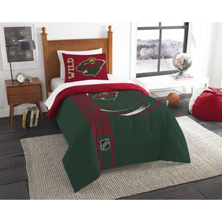 The Northwest Company Official NHL 862 Wild Printed Twin Comforter and Sham Set