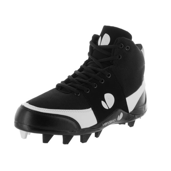 Verdero Men's Legend Hi-top Molded Black/White Mesh Baseball Cleat