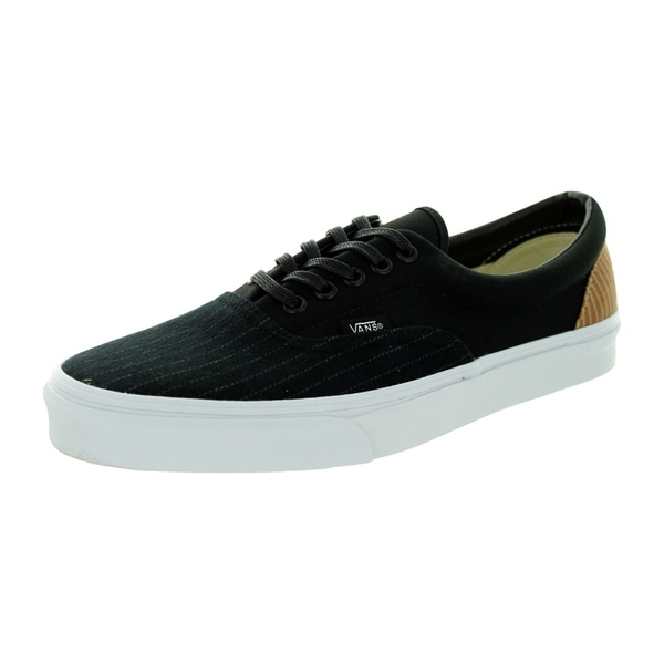 Vans Unisex Era Black Canvas Skate Shoes