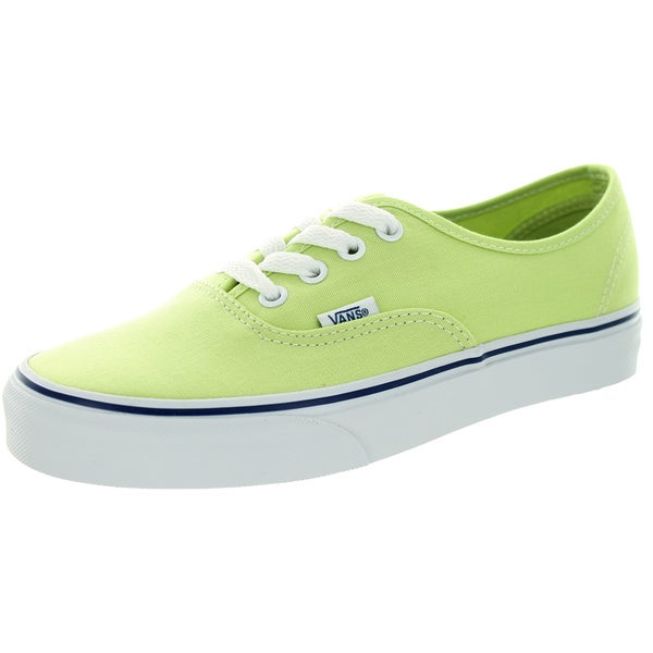 Vans Unisex Authentic Shadow Lime/True White Canvas Skate Shoe