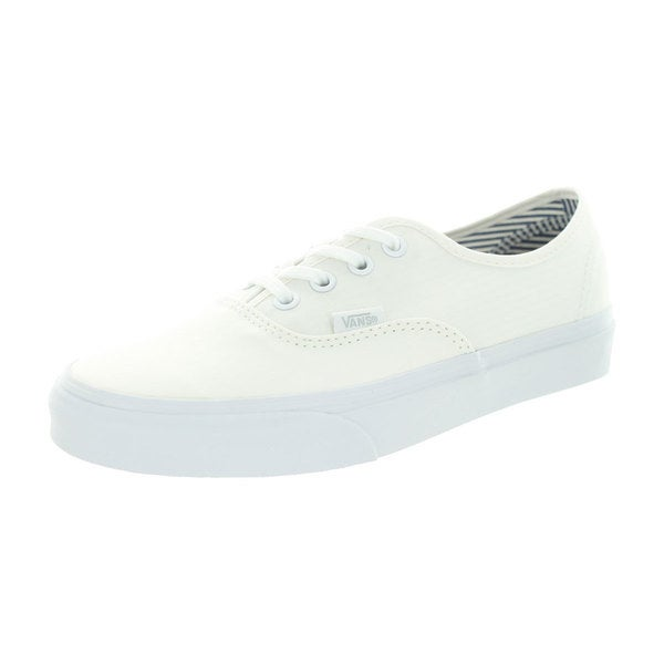 Vans Unisex Authentic White Canvas Skate Shoes