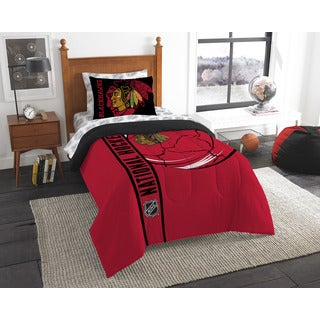 NHL 845 Blackhawks Twin 5-piece Bed in a Bag with Sheet Set