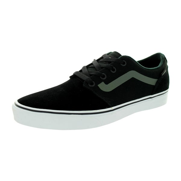 Vans Men's Chapman Black/Mid Grey Canvas/Suede Skate Shoe