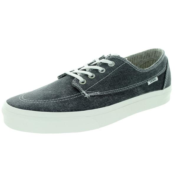 Vans Unisex Brigata Black Canvas Skate Shoes