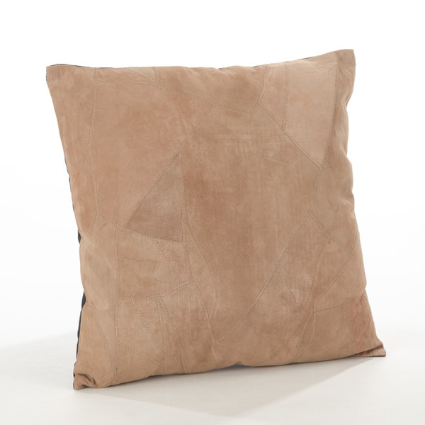 The Corium Collection Classic Leather Lumbar Throw Pillow, Poly Filled