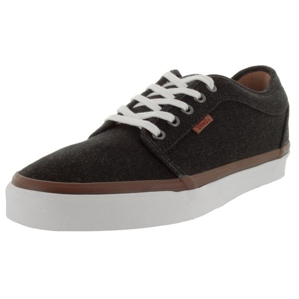 Vans Men's Chukka Low Black/White Denim Skate Shoes