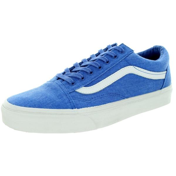 Vans Unisex Old Skool Overwashed Nautical Blue Skate Shoe