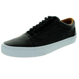Vans Men's Old Skool Black Leather Skate Shoes