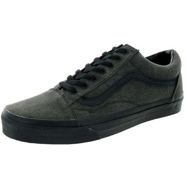 Vans Unisex Old Skool Overwashed Black Skate Shoe