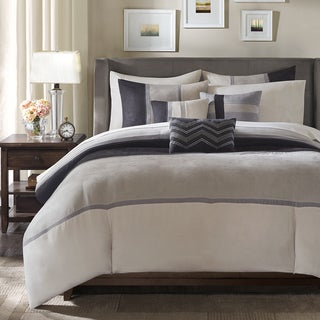 Madison Park Hanover Black Duvet Cover Set