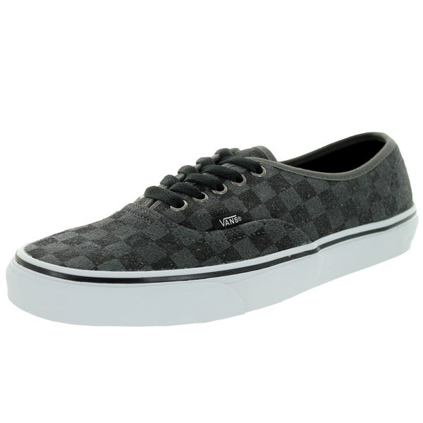 Vans Unisex Authentic Grey Canvas Checkerboard Skate Shoes