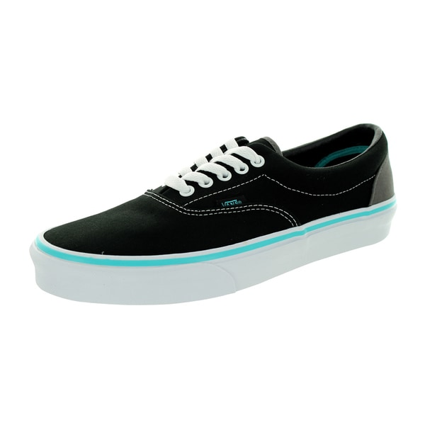 Vans Unisex Era Pop Curacao Black/Blue Canvas Skate Shoe (7.5)