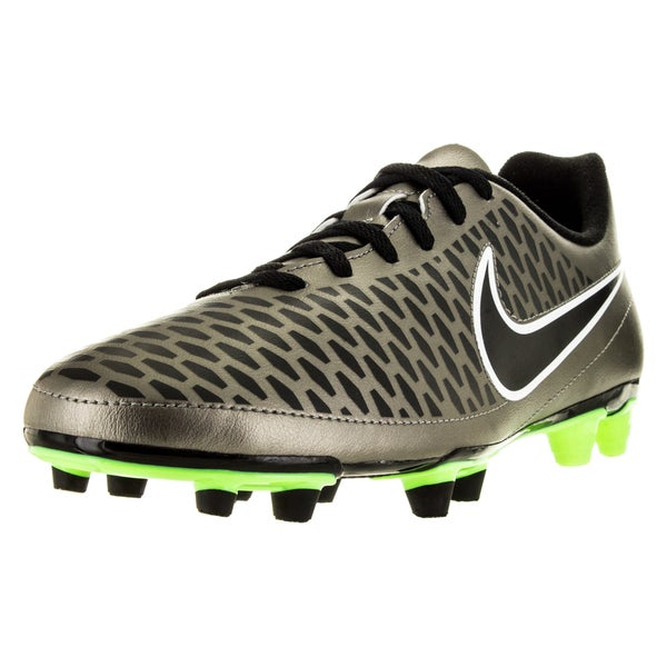 Nike Men's Magista OLA Firm Ground Pewter, Black, Green, and White Soccer Cleats