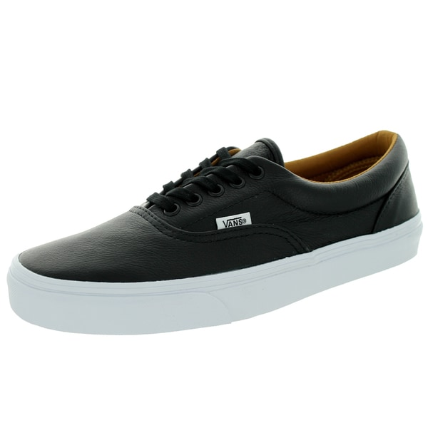 Vans Unisex Era Black Leather Skate Shoes (Size 10)