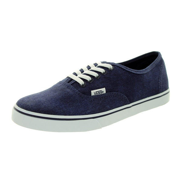 Vans Unisex Authentic Lo Pro Blue Canvas Walking Shoes