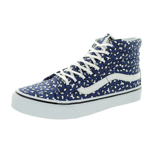 Vans Unisex Sk8-Hi Slim Twilight Blue/True White Canvas Skate Shoe