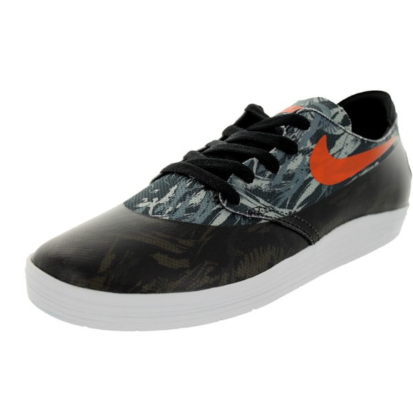 Nike Men's Lunar Oneshot SB WC Black/Safety Orange Synthetic/Mesh Skate Shoes