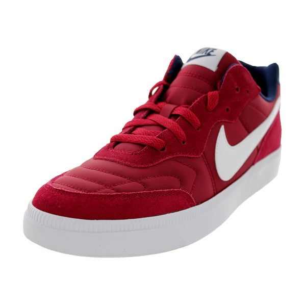 Nike Men's NSW Tiempo Trainer Legacy Red and White Mesh/Synthetic Walking Shoes