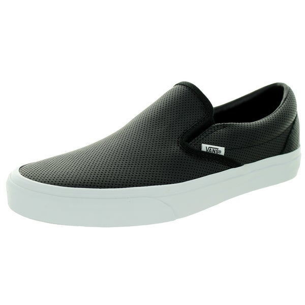 Vans Unisex Classic Slip-on Perforated Leather Black Skate Shoe