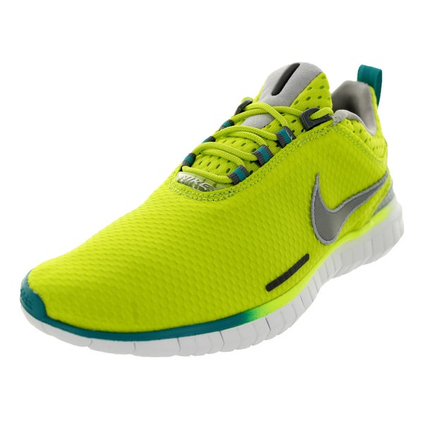 Nike Men's Free OG '14 Bright Venom Green/Metallic Silver/White Mesh Running Shoe