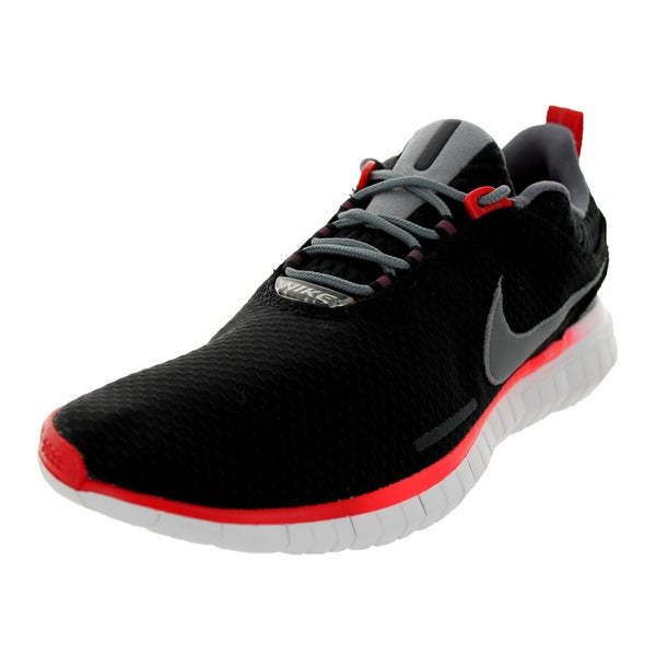 Nike Men's Free Og '14 Bright Black/Clear Grey/White/Red Mesh Running Shoe