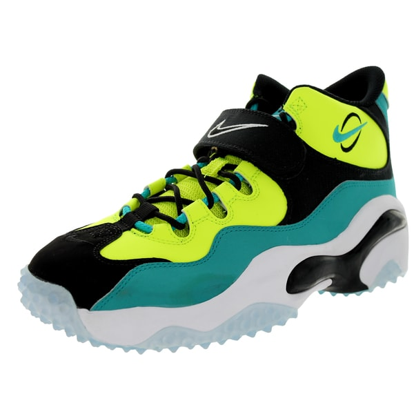 Nike Men's Zoom Turf Volt/Black/Turbo Green/White Leather and Synthetic Training Shoe