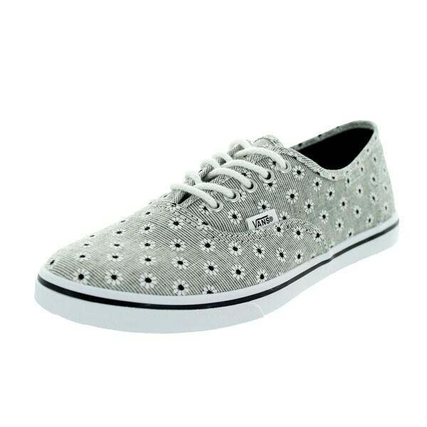Vans Unisex Authentic Lo Pro Black Canvas Walking Shoes (4.5)