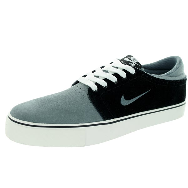 Nike Men's Zoom Team Edition Cool Grey/Black/Ivory Suede Skate Shoes