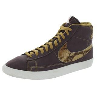 Nike Men's Blazer Mahogany/Golden Tan/Sail Premium Vintage Casual Shoe