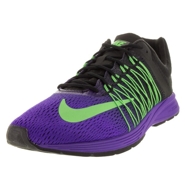 Nike Men's Air Zoom Streak 5 Fierce Purple, Green, and Black Mesh Running Shoe