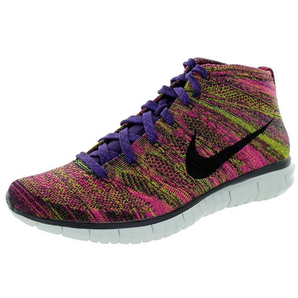 Nike Men's Free Flyknit Chukka Grand Purple and Black Running Shoes
