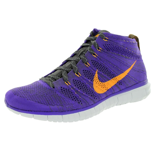 Nike Men's Flyknit Chukka Purple Mesh Running Shoes
