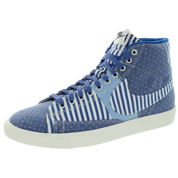 Nike Men's Blazer Mid Premium Vintage QS Blue Legend/Sail Casual Shoes