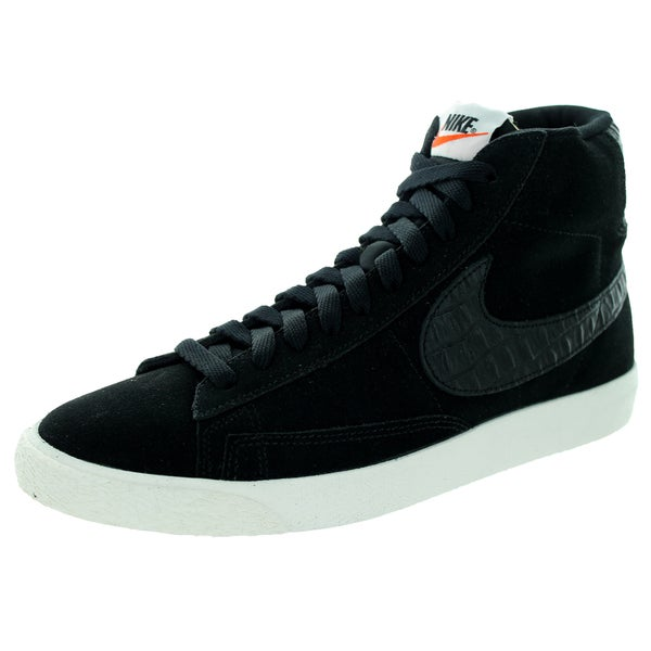 Nike Men's Blazer Mid PRM Vintage Black and Sail Suede Casual Shoes