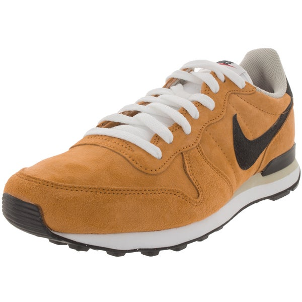 Nike Men's Internationalist Leather Bronze/Black/Beige Chalk/White Suede Running Shoe