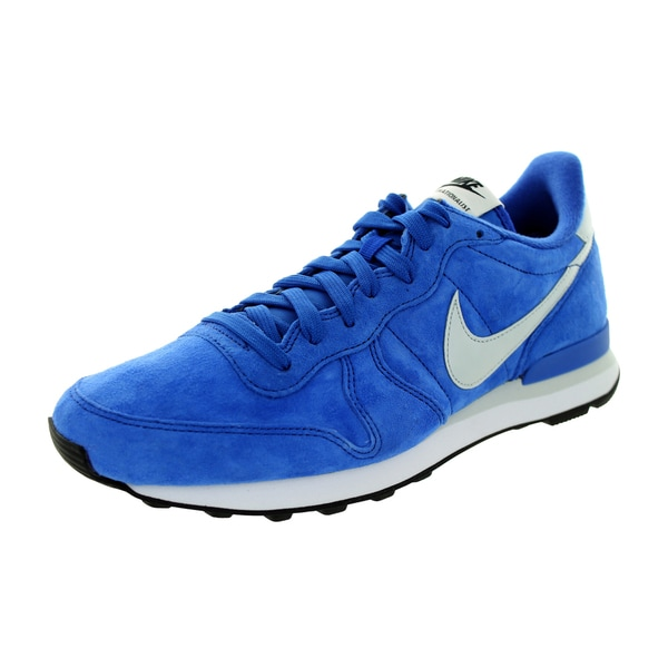 Nike Men's Internationalist Royal Blue/Black/White Leather Running Shoes