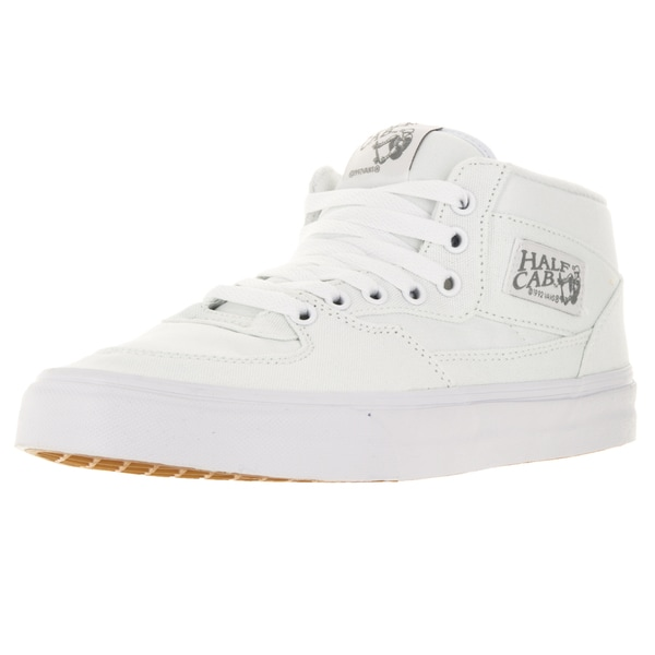 Vans Unisex Half Cab White Canvas Skate Shoes