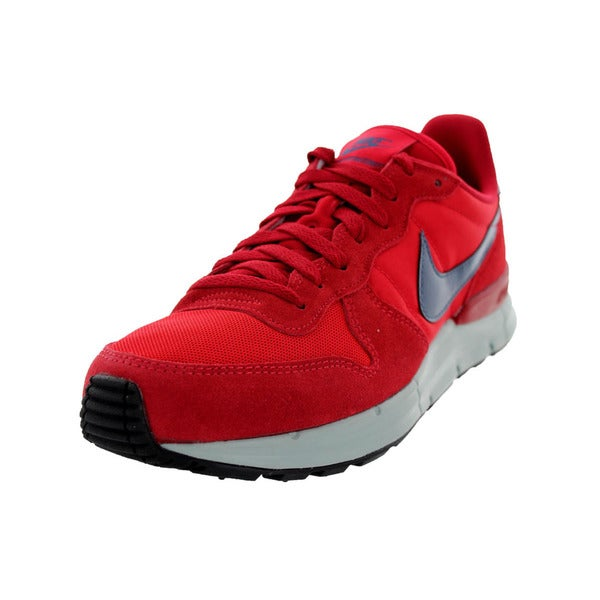 Nike Men's Lunar Internationalist University Red/Gym Red Mesh Running Shoe