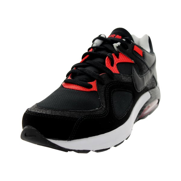 Nike Men's Air Max Go Strong Essential Black/Light Crimson/White Leather/Mesh Running Shoe