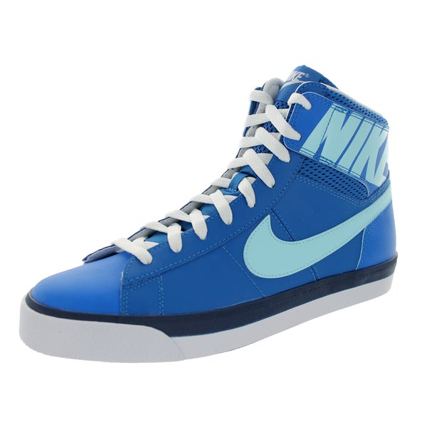 Nike Men's Match Supreme Hi Military Black/Wolf Grey/Glacier Ice/Mid Navy Leather Casual Shoes