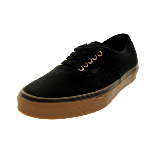 Vans Unisex Authentic Black Canvas Skate Shoes
