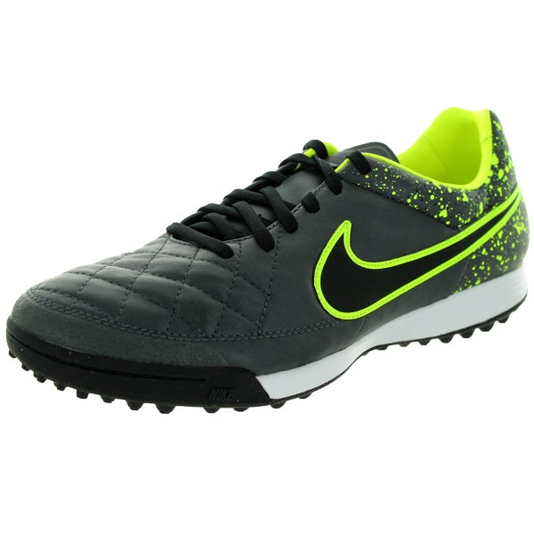 Nike Men's Tiempo Legacy TF Anthracite/Black/Volt Synthetic/Leather Turf Soccer Shoe