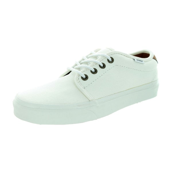 Vans Unisex 159 Vulcanized (T&L) White Canvas Skate Shoes